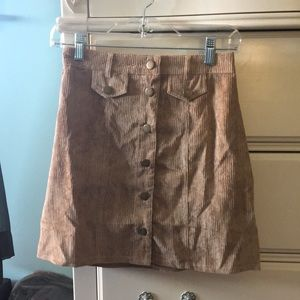 Corduroy Tan Skirt (Size 2)
